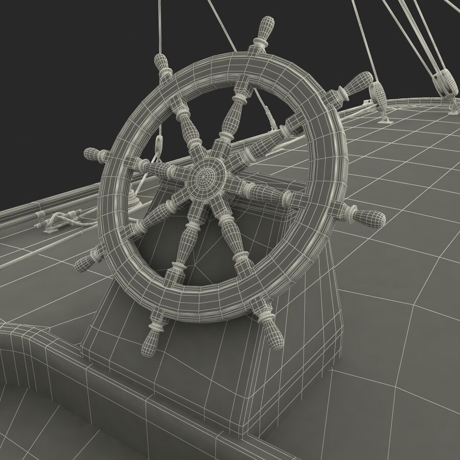 Segelboot royalty-free 3d model - Preview no. 51