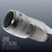JT9D Jet Engine 3d model