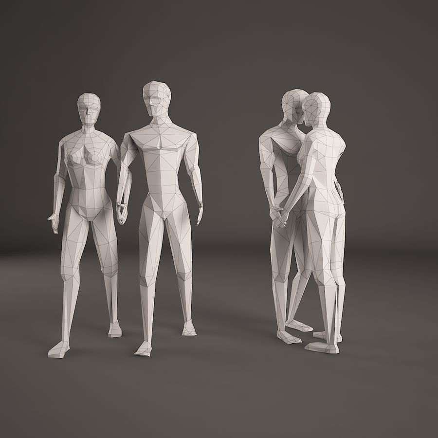 Par, figura, jogo, 001 royalty-free 3d model - Preview no. 5