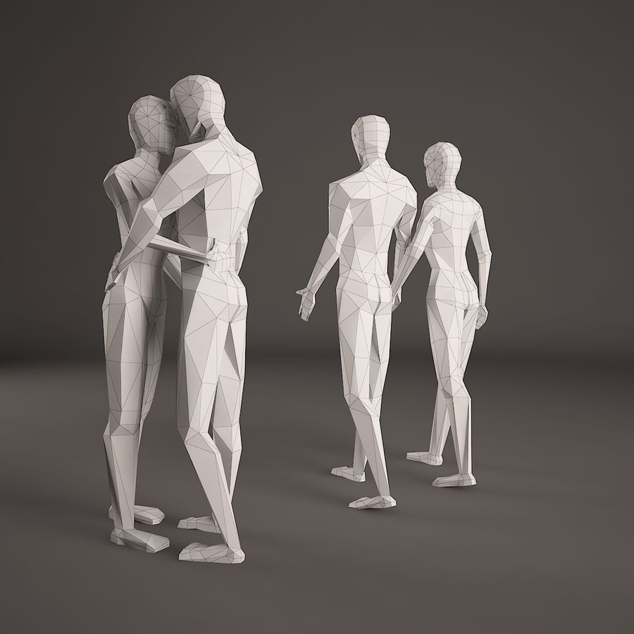 Par, figura, jogo, 001 royalty-free 3d model - Preview no. 4