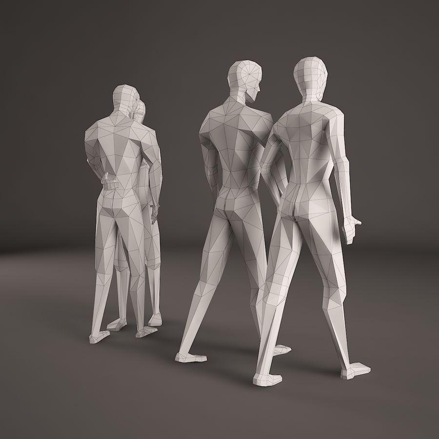 Par, figura, jogo, 001 royalty-free 3d model - Preview no. 3