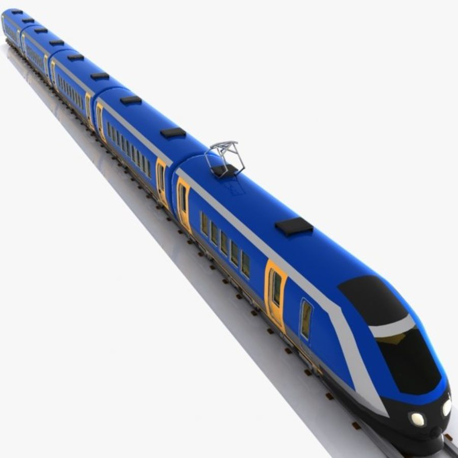 Cartoon High-speed Train royalty-free 3d model - Preview no. 4