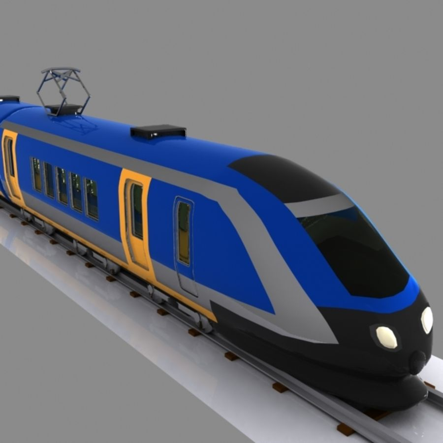 Cartoon High-speed Train royalty-free 3d model - Preview no. 2