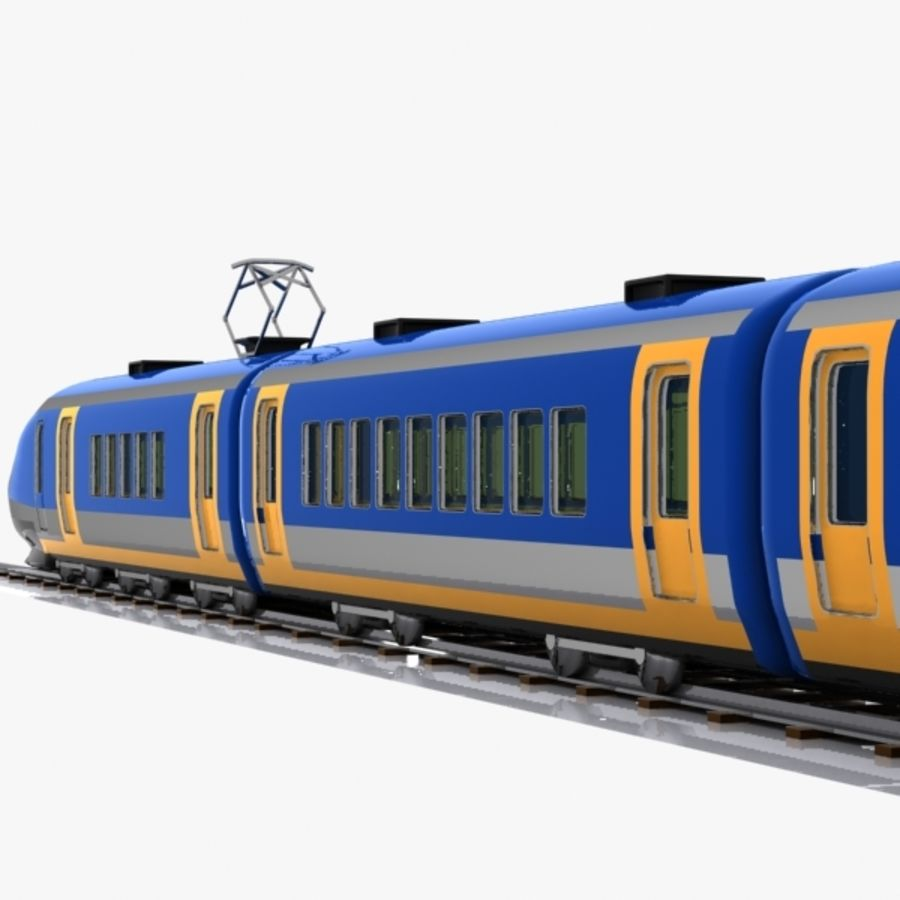 Cartoon High-speed Train royalty-free 3d model - Preview no. 10