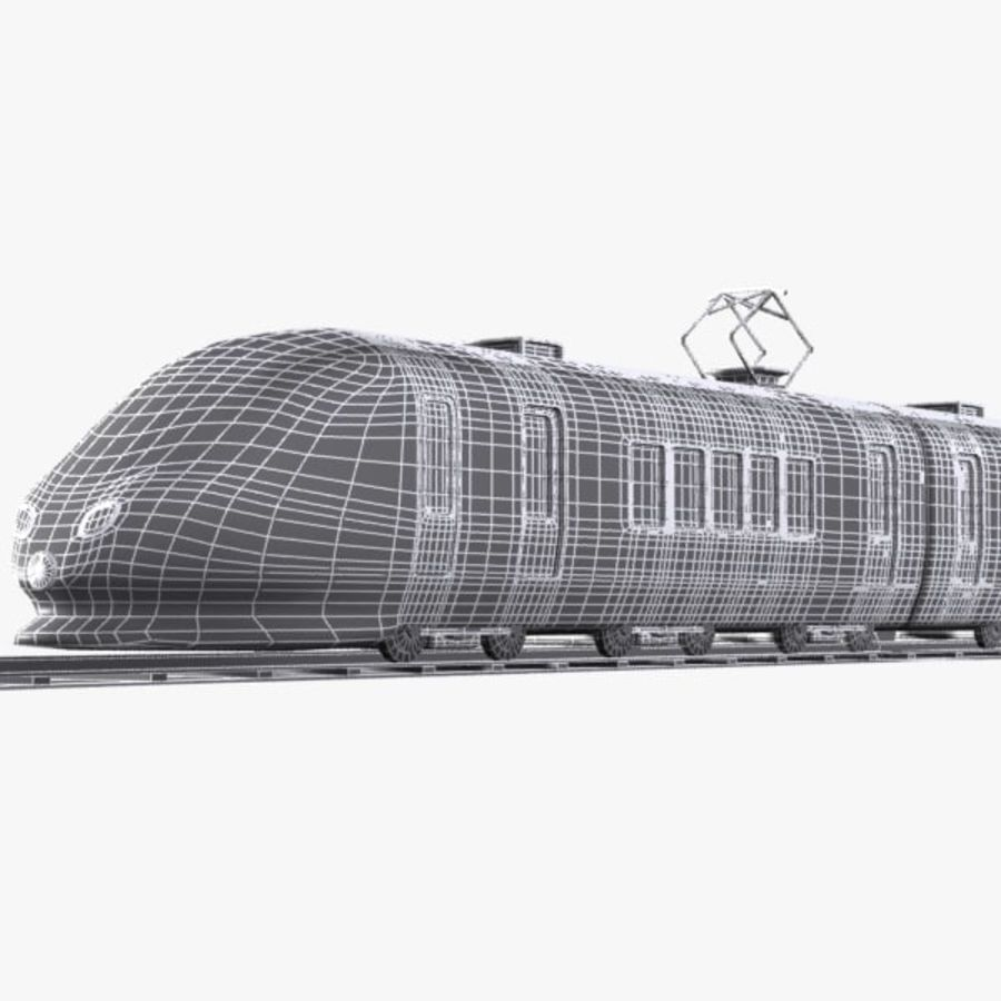 Cartoon High-speed Train royalty-free 3d model - Preview no. 13
