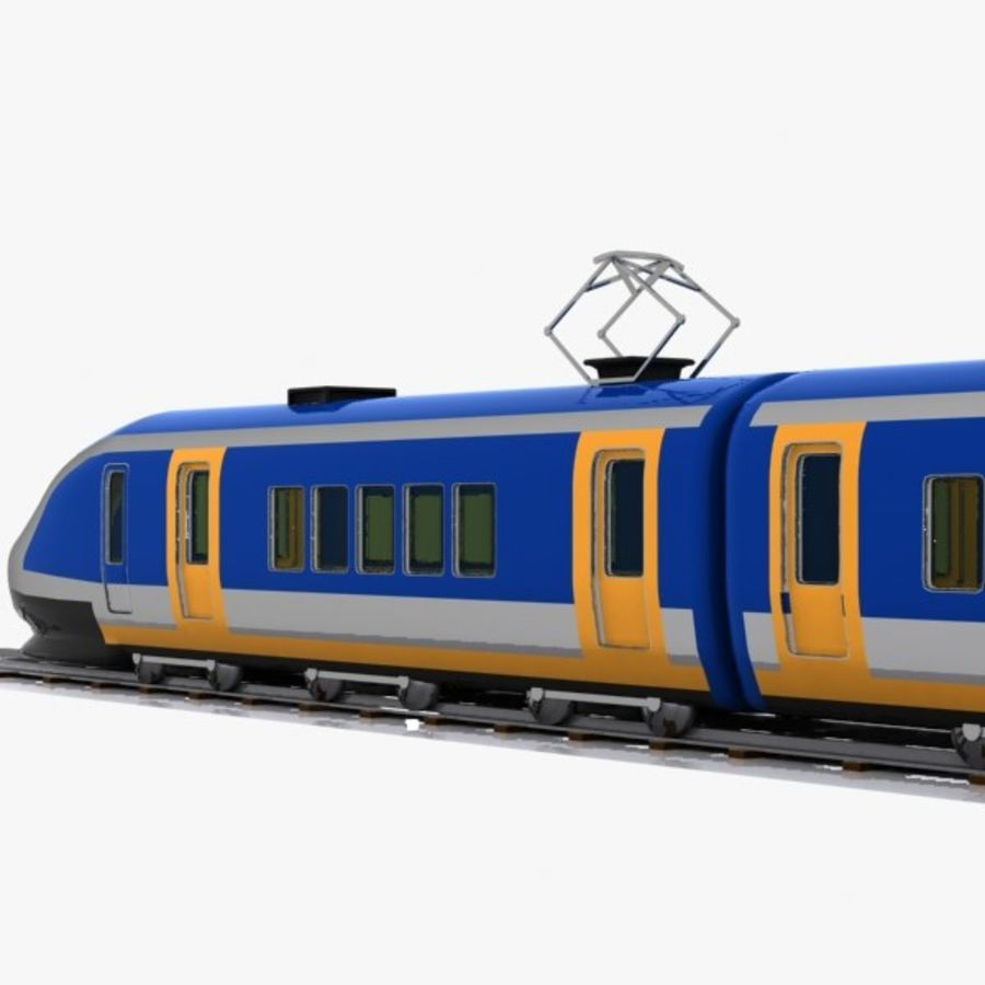 Cartoon High-speed Train royalty-free 3d model - Preview no. 9