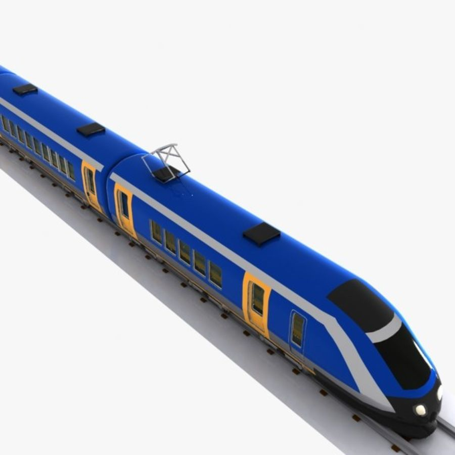 Cartoon High-speed Train royalty-free 3d model - Preview no. 3