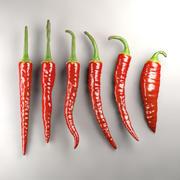 Hot papricas 3d model