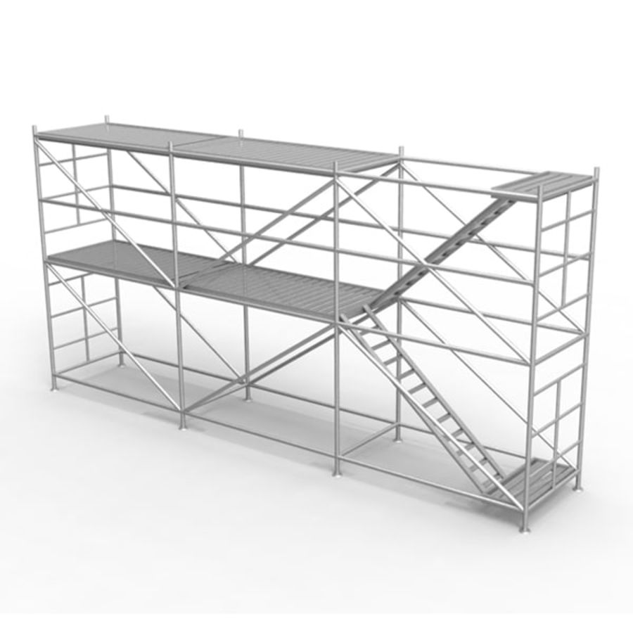 Scaffolding royalty-free 3d model - Preview no. 4