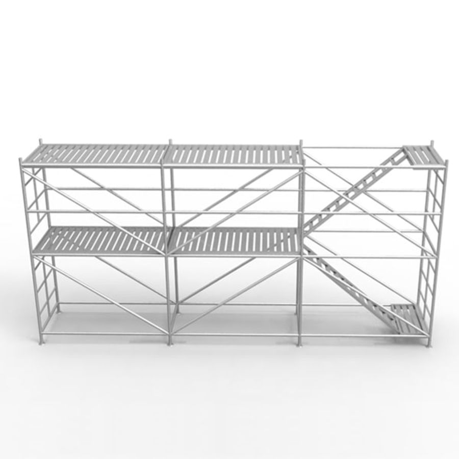 Scaffolding royalty-free 3d model - Preview no. 3