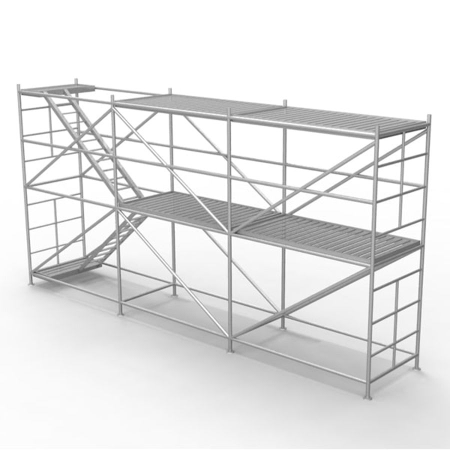 Scaffolding royalty-free 3d model - Preview no. 1