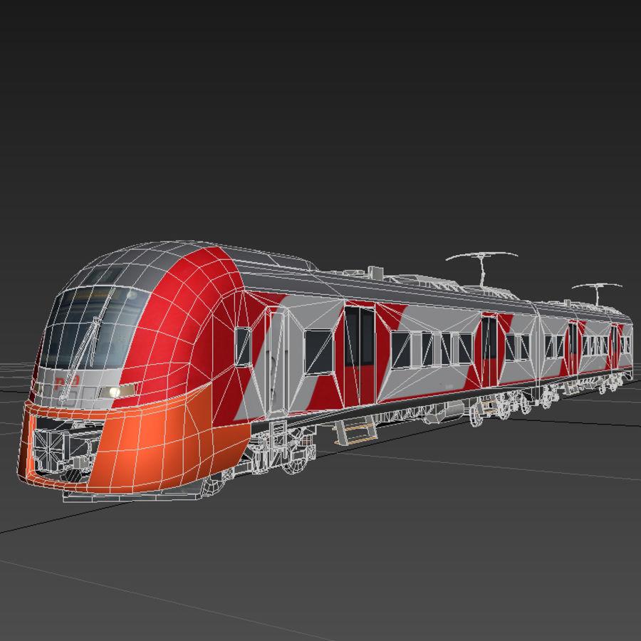 Elektrischer Zug royalty-free 3d model - Preview no. 3