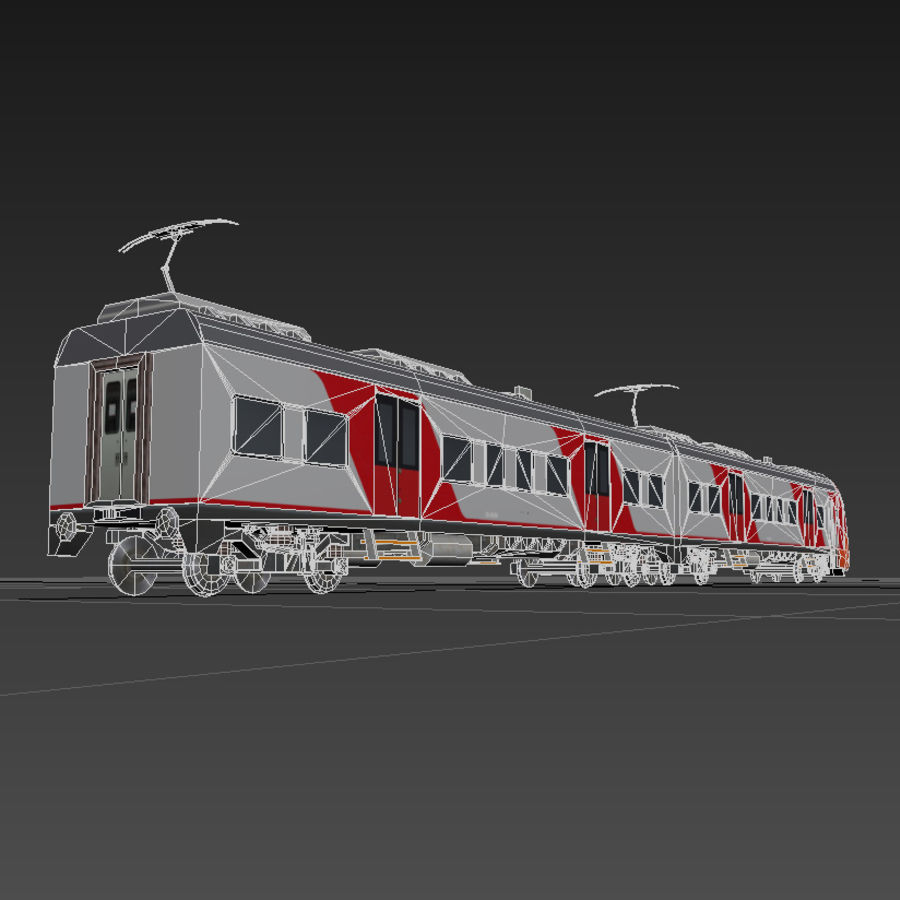 Electric train royalty-free 3d model - Preview no. 7