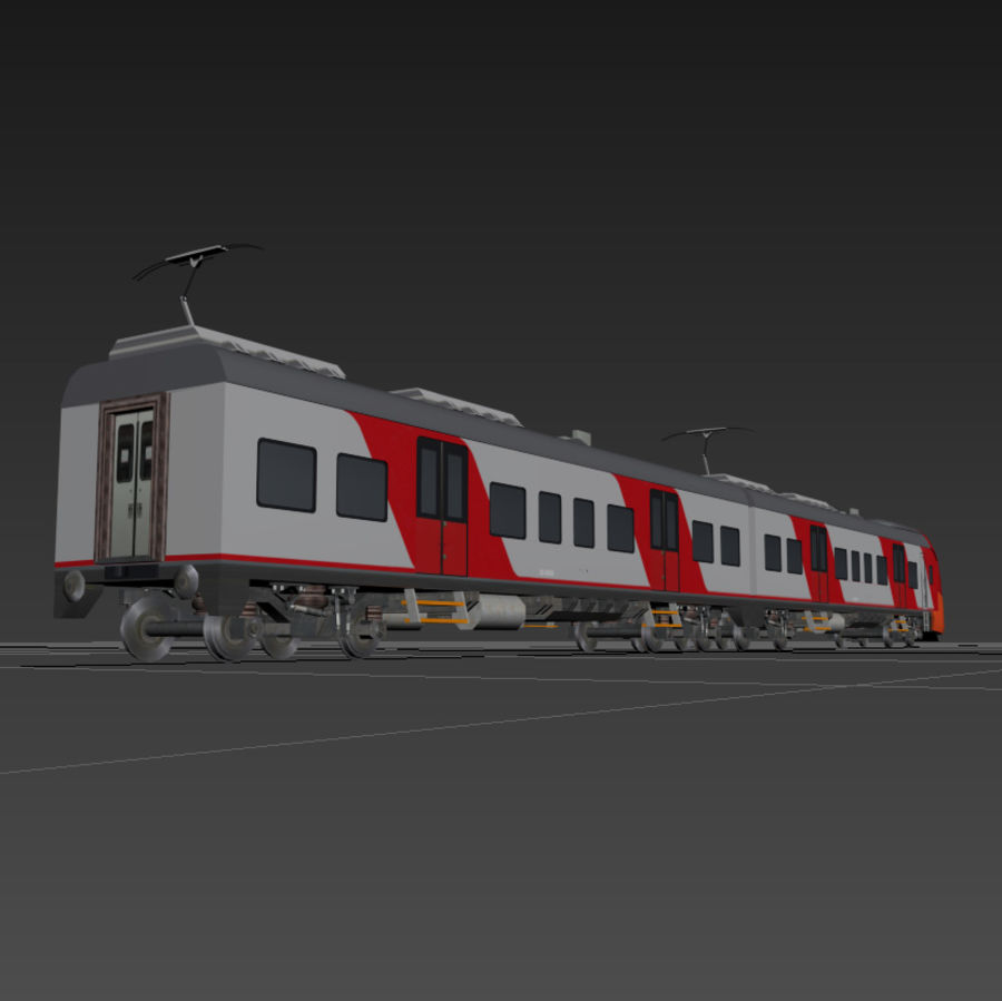 Electric train royalty-free 3d model - Preview no. 6
