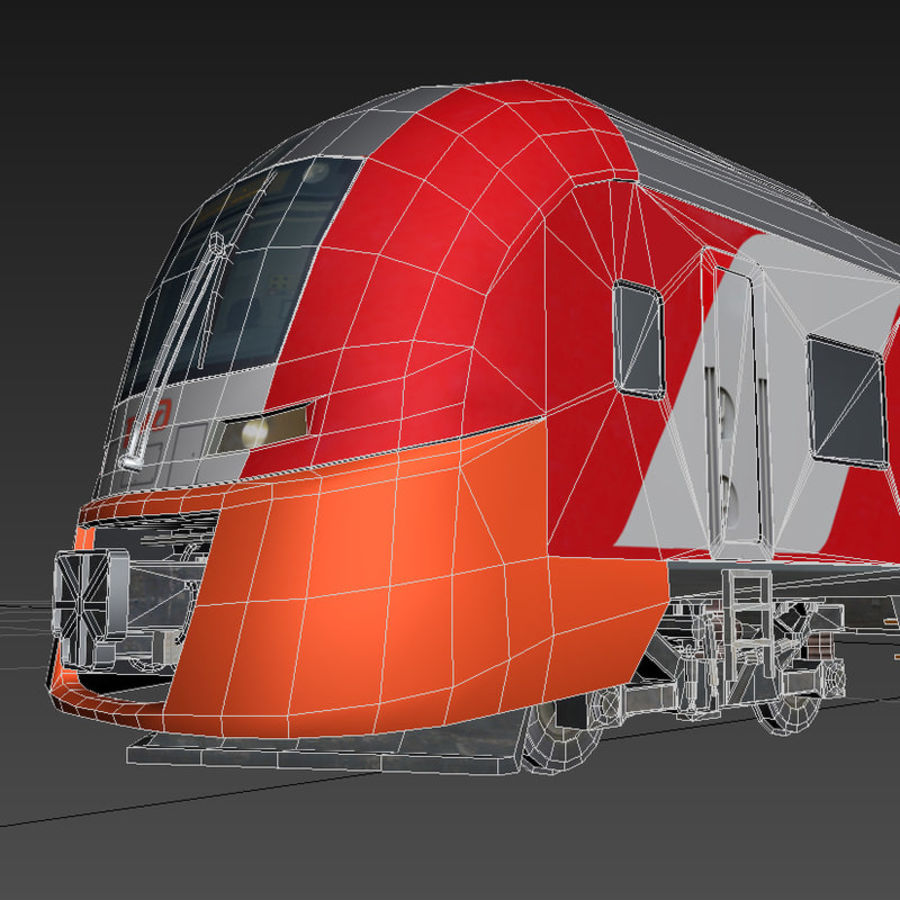 Electric train royalty-free 3d model - Preview no. 4