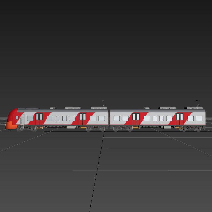 Electric train royalty-free 3d model - Preview no. 5