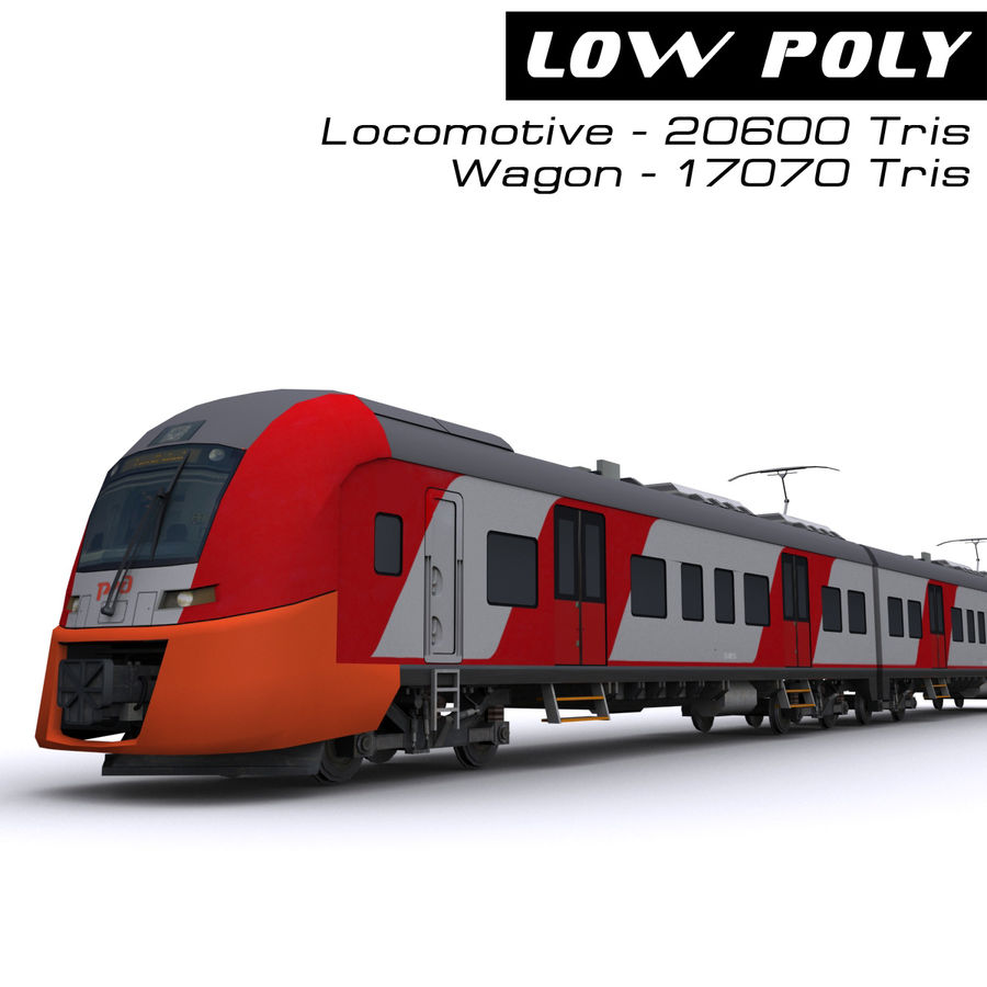 Electric train royalty-free 3d model - Preview no. 1