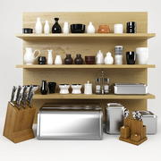 Kitchen Stuff Set 3d model