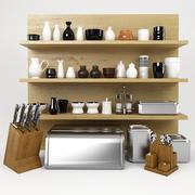 Kitchen Stuff Set 3d model
