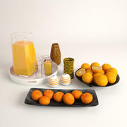 Juice + Oranges + Mandarins 3d model