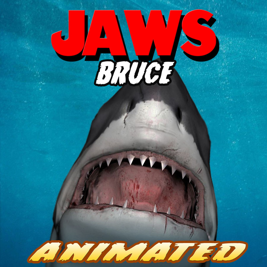 Jaws Bruce royalty-free 3d model - Preview no. 2