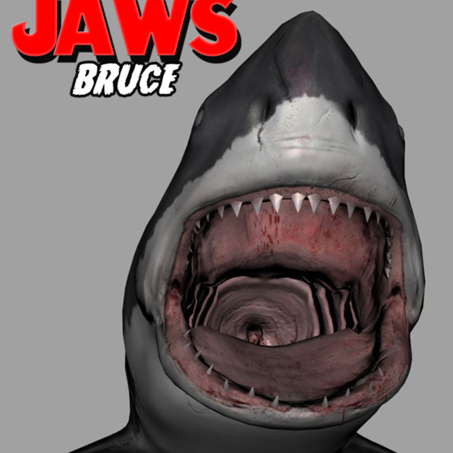 Jaws Bruce royalty-free 3d model - Preview no. 8