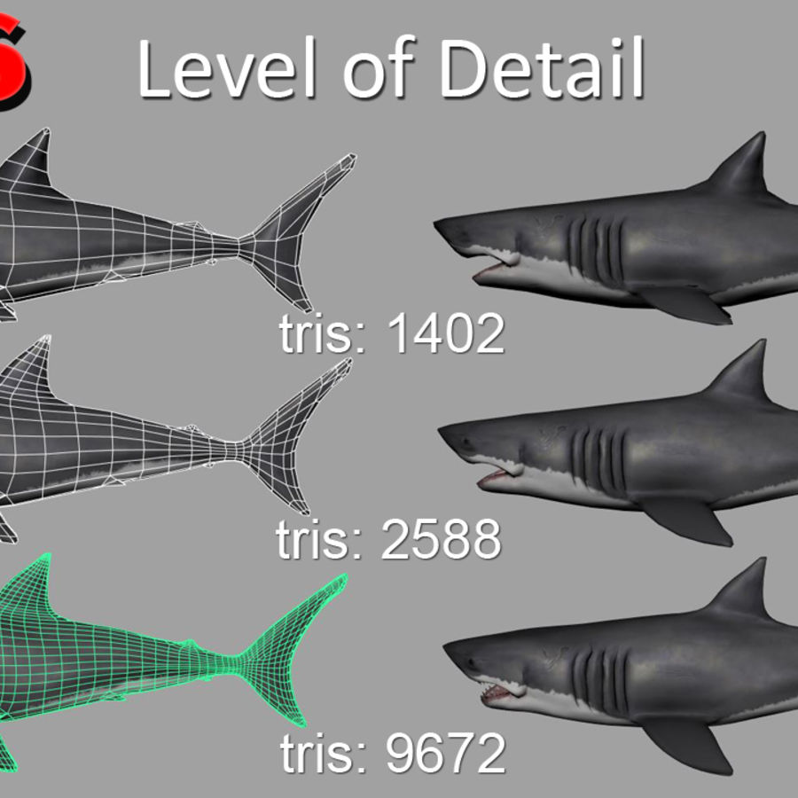 Jaws Bruce royalty-free 3d model - Preview no. 3