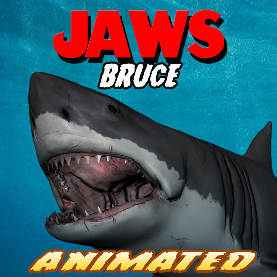 Jaws Bruce royalty-free 3d model - Preview no. 1