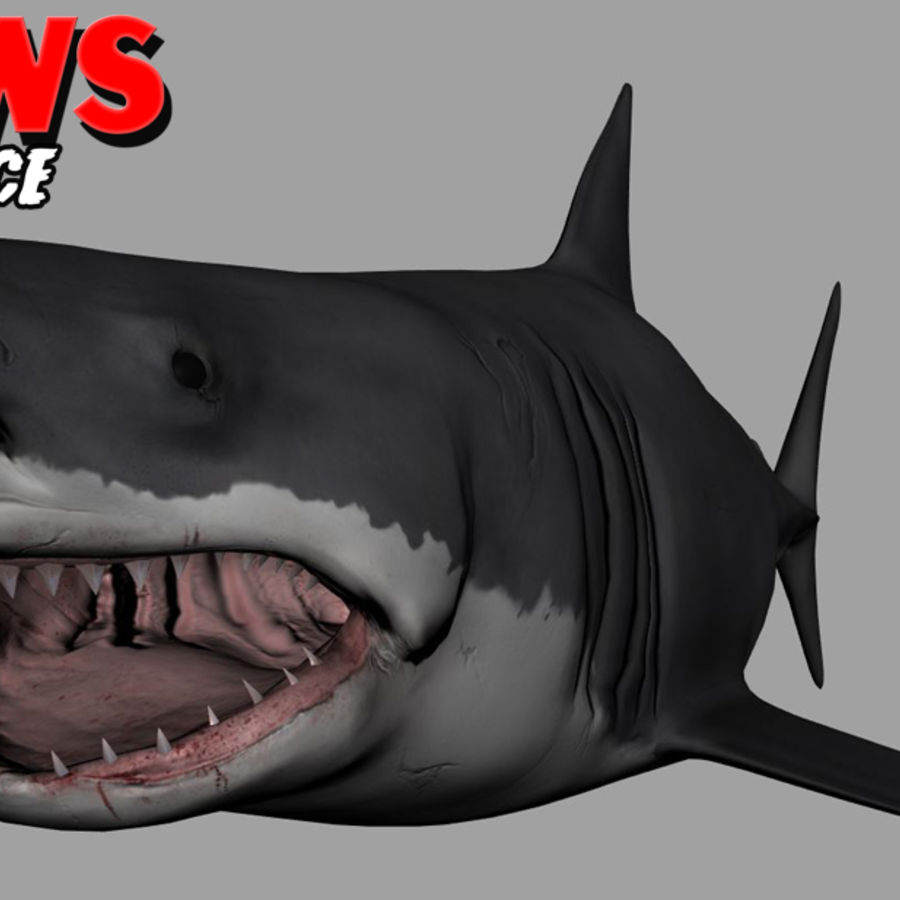 Jaws Bruce royalty-free 3d model - Preview no. 9