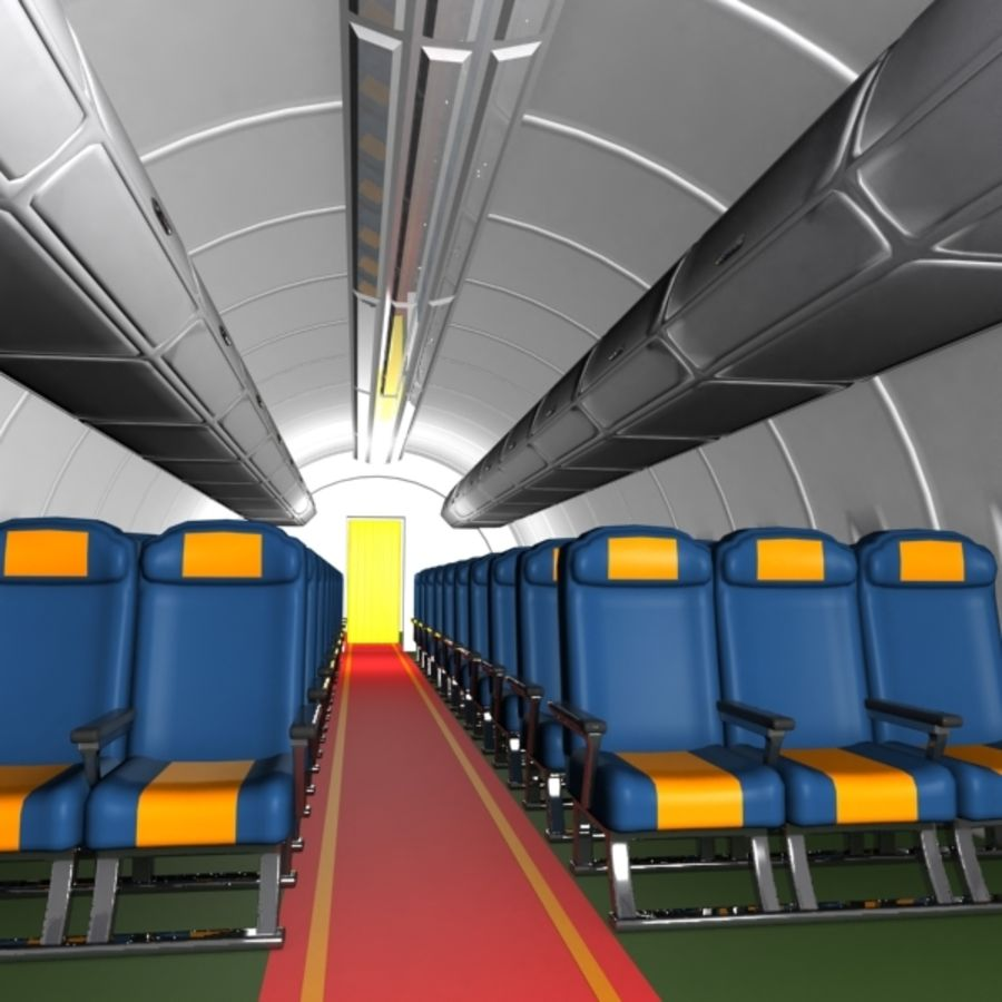 Cartoon Aircraft Cabin royalty-free 3d model - Preview no. 1