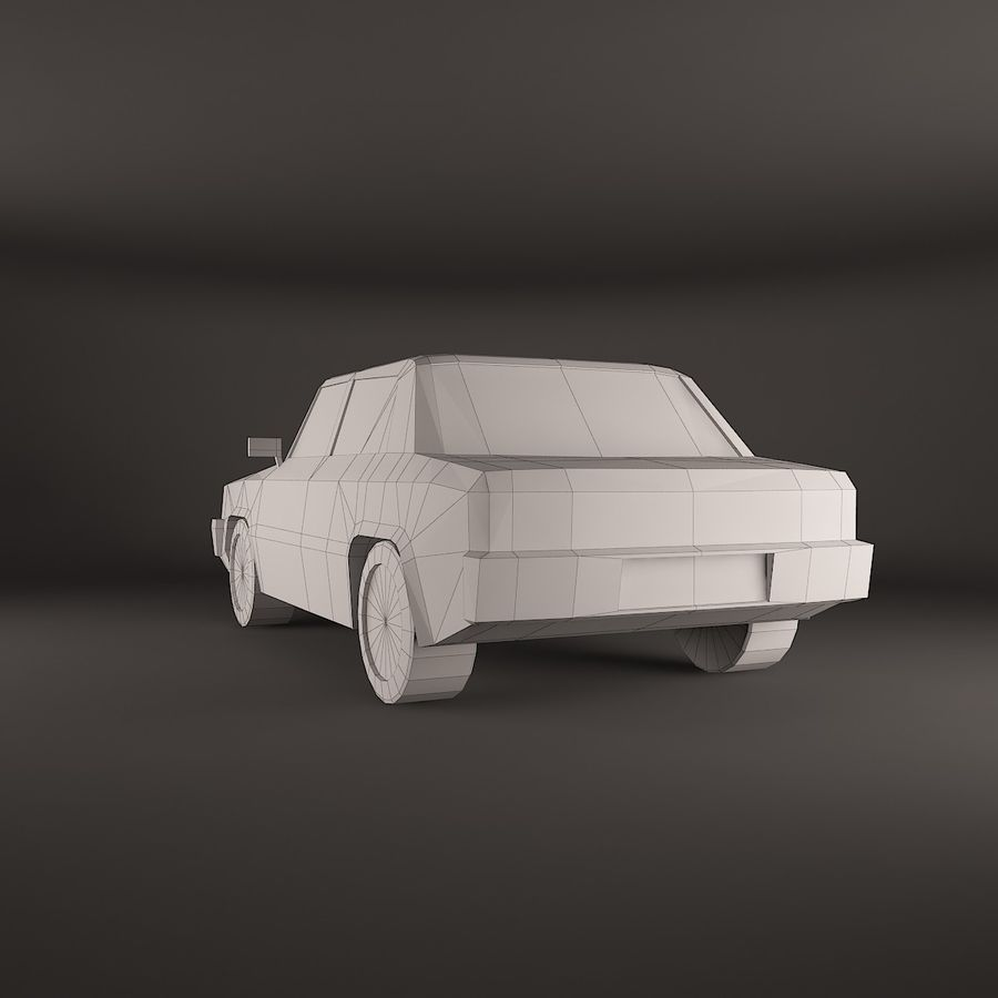 Simple car royalty-free 3d model - Preview no. 4
