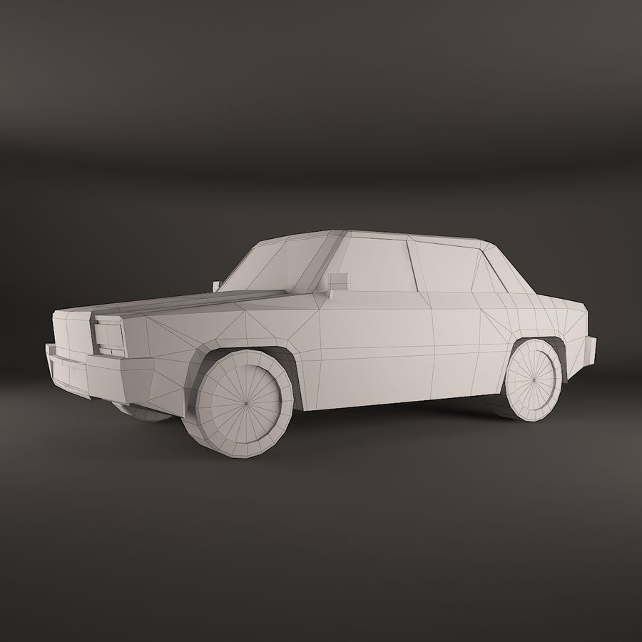 Carro simples royalty-free 3d model - Preview no. 2