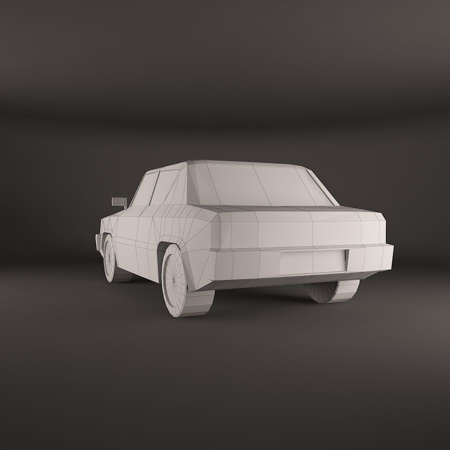 Carro simples royalty-free 3d model - Preview no. 4