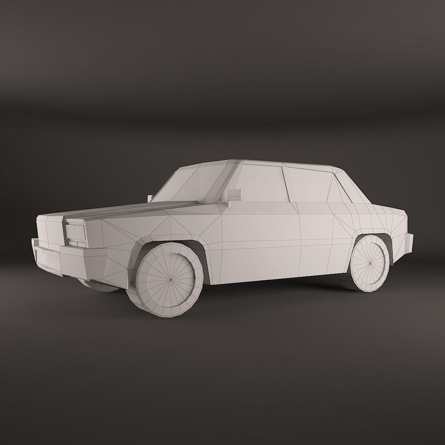 Simple car royalty-free 3d model - Preview no. 2