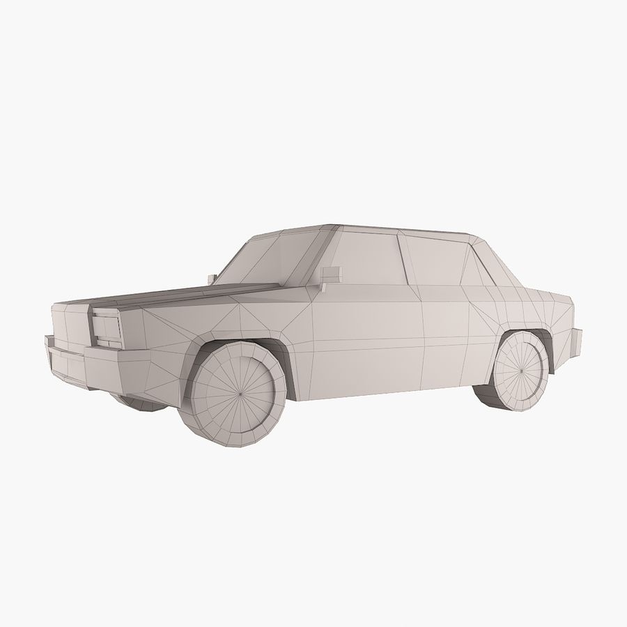Carro simples royalty-free 3d model - Preview no. 1