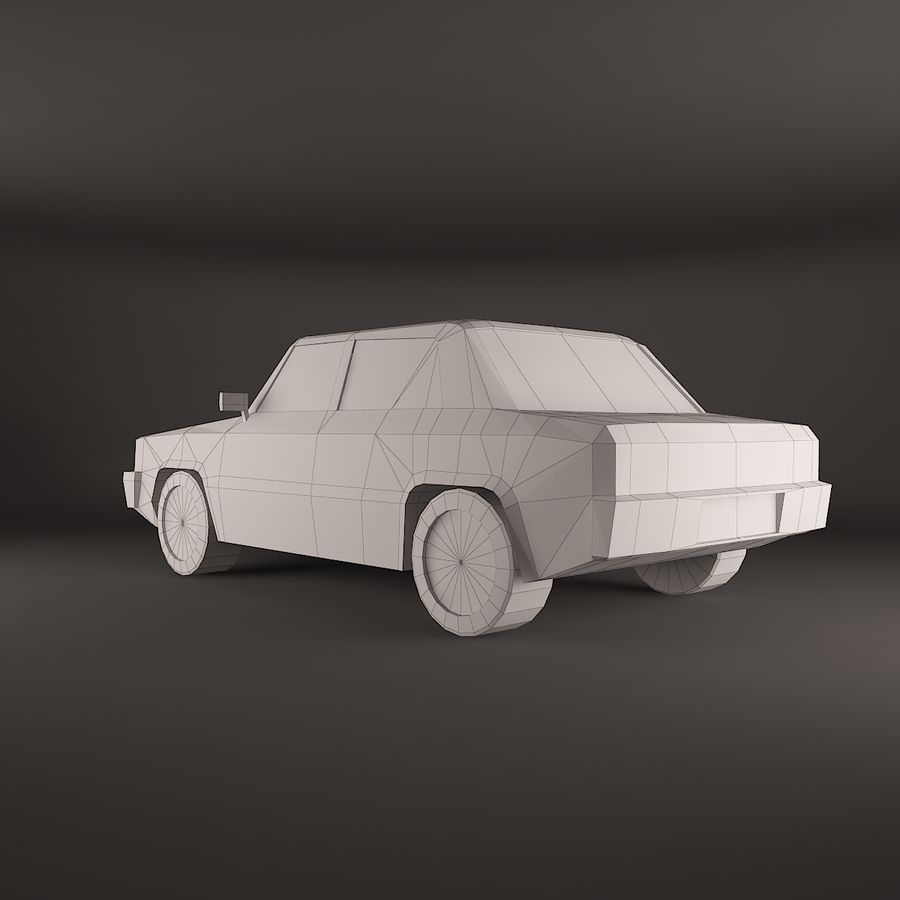 Carro simples royalty-free 3d model - Preview no. 3