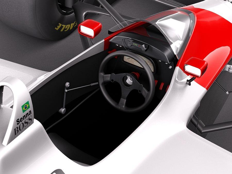McLaren Honda Mp4-4 Ayrton Senna F1 royalty-free 3d model - Preview no. 9