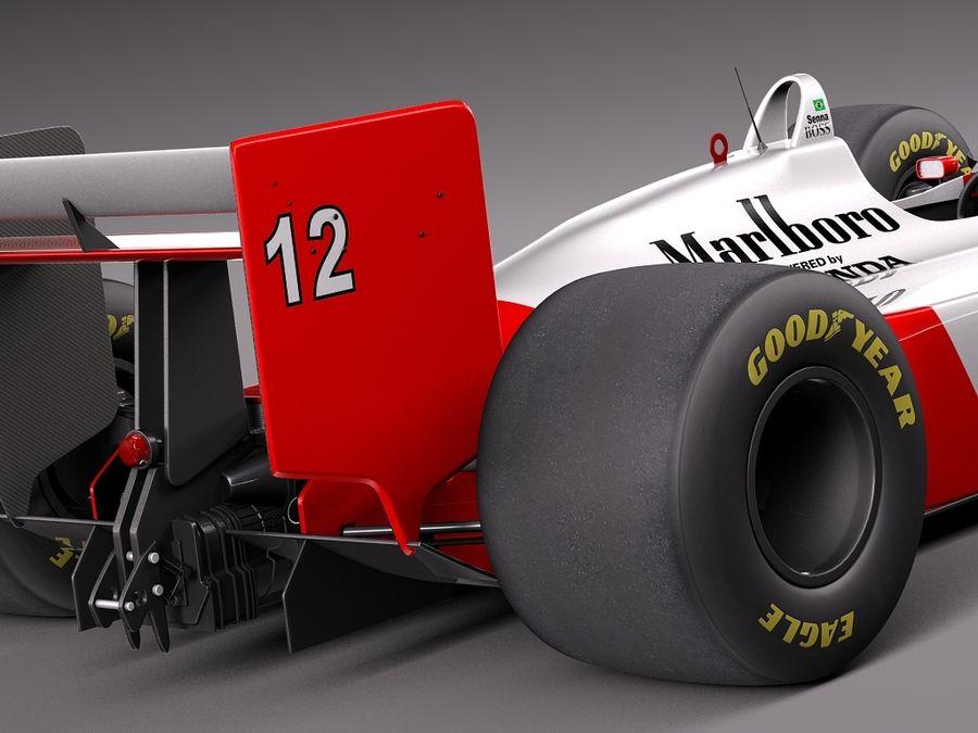 McLaren Honda Mp4-4 Ayrton Senna F1 royalty-free 3d model - Preview no. 4