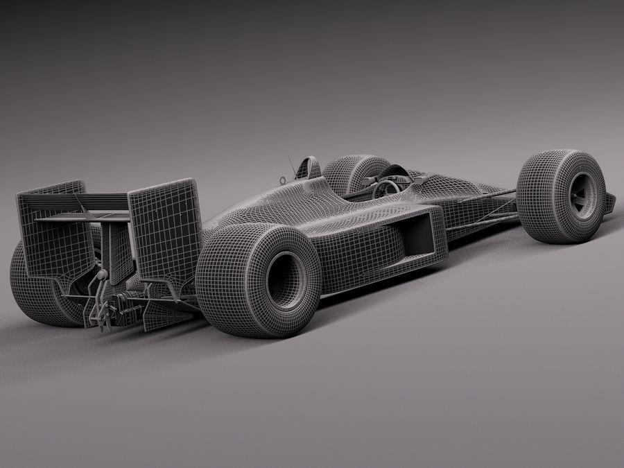 McLaren Honda Mp4-4 Ayrton Senna F1 royalty-free 3d model - Preview no. 15