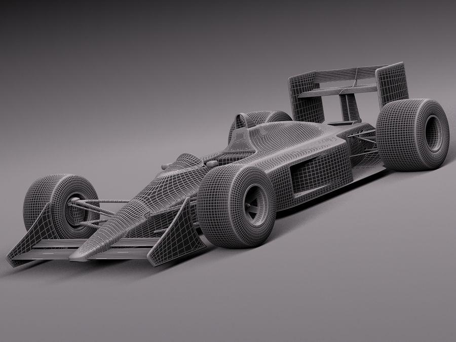 McLaren Honda Mp4-4 Ayrton Senna F1 royalty-free 3d model - Preview no. 14