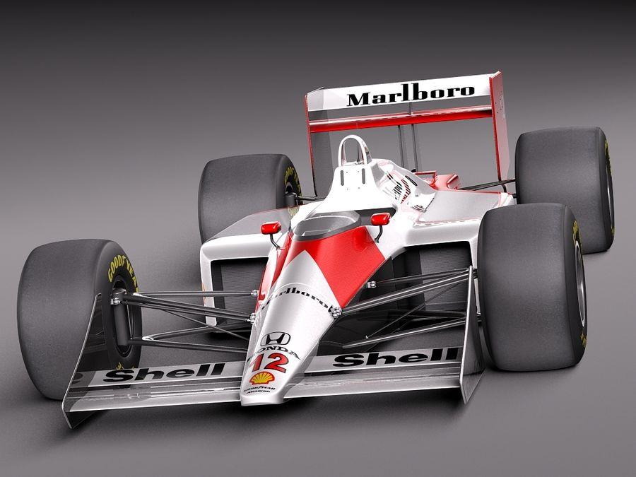 McLaren Honda Mp4-4 Ayrton Senna F1 royalty-free 3d model - Preview no. 2