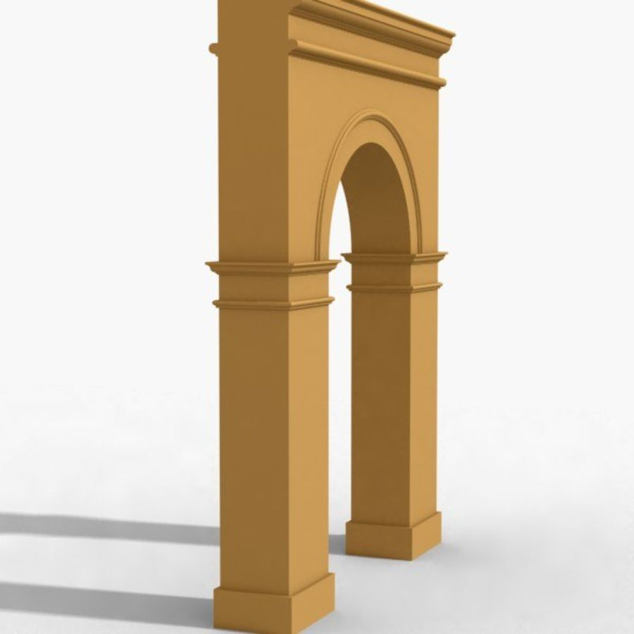 Arch 003-1 royalty-free 3d model - Preview no. 3