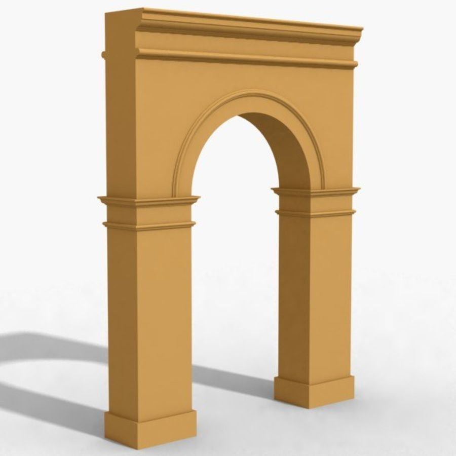 Arch 003-1 royalty-free 3d model - Preview no. 1
