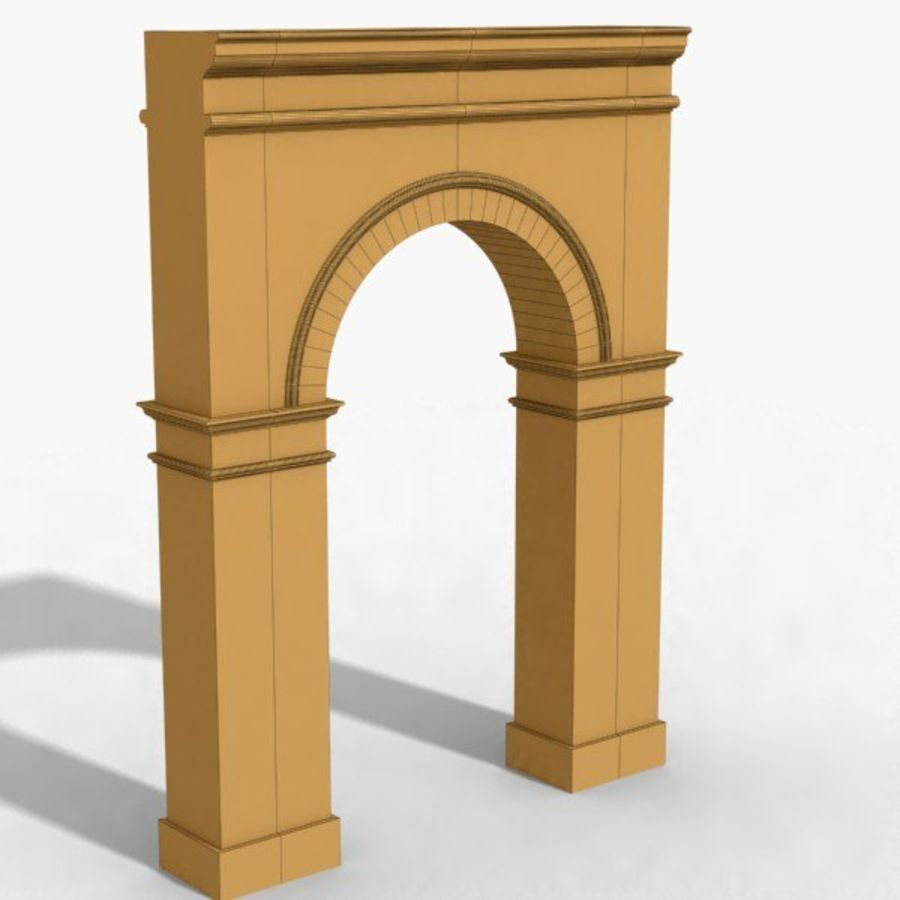 Arch 003-1 royalty-free 3d model - Preview no. 6