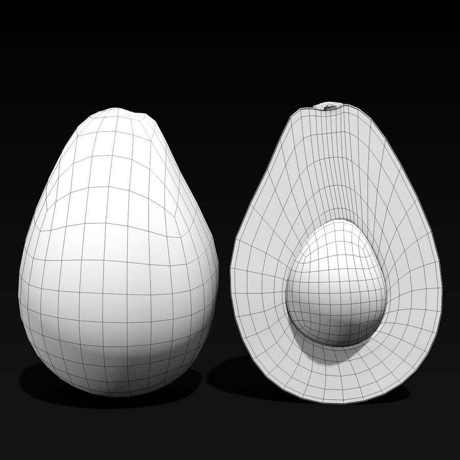 Mezzo avocado royalty-free 3d model - Preview no. 9
