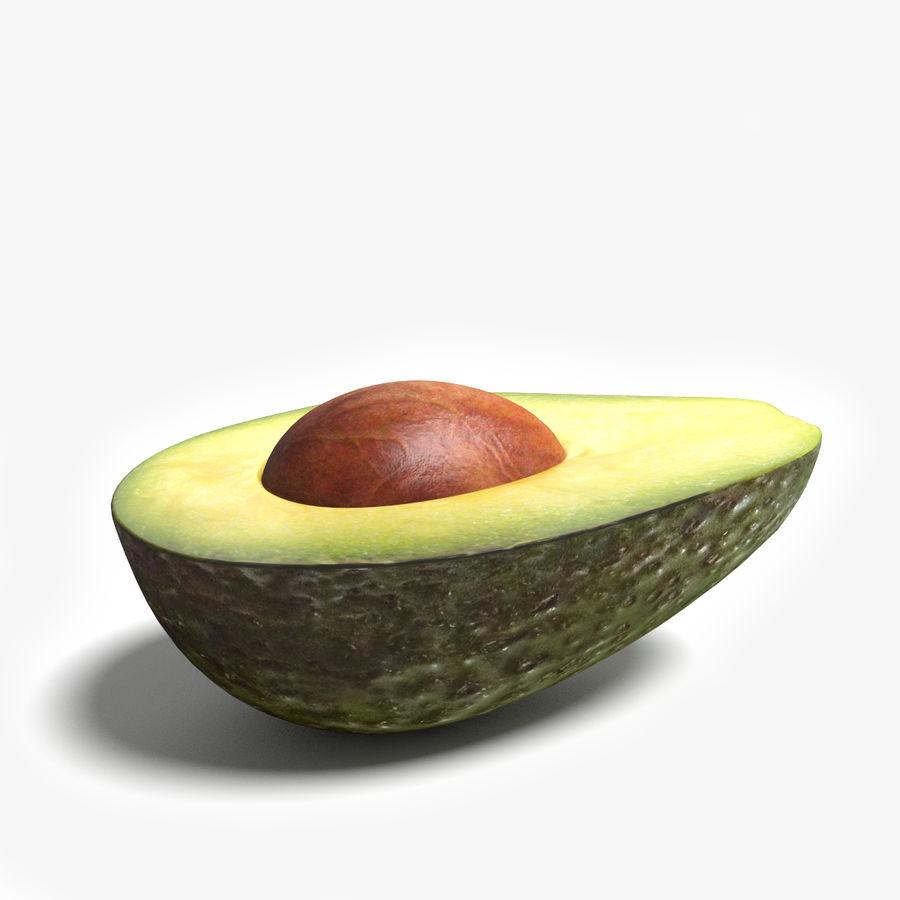 Mezzo avocado royalty-free 3d model - Preview no. 5