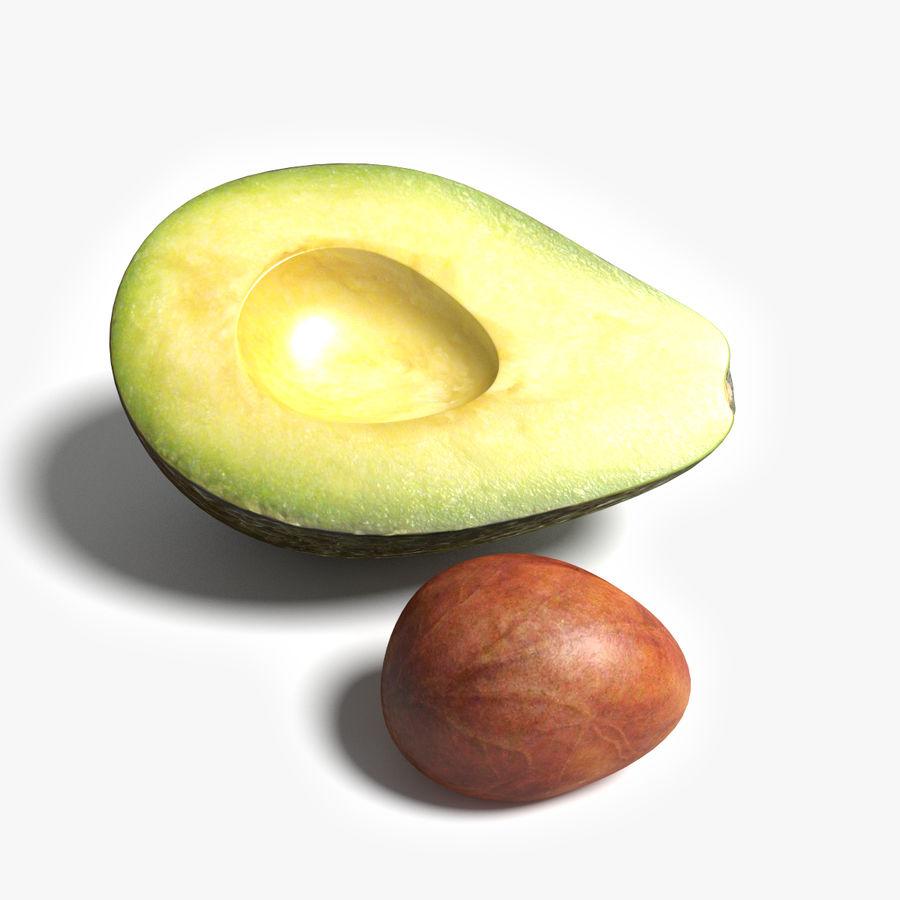Mezzo avocado royalty-free 3d model - Preview no. 6