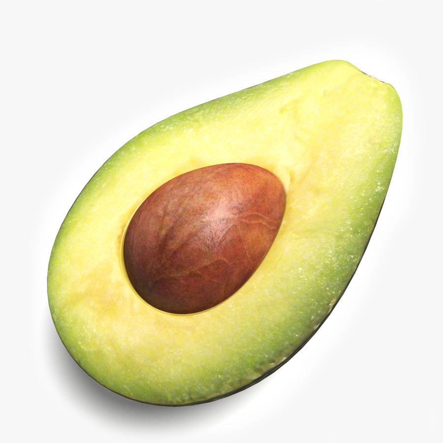 Mezzo avocado royalty-free 3d model - Preview no. 2