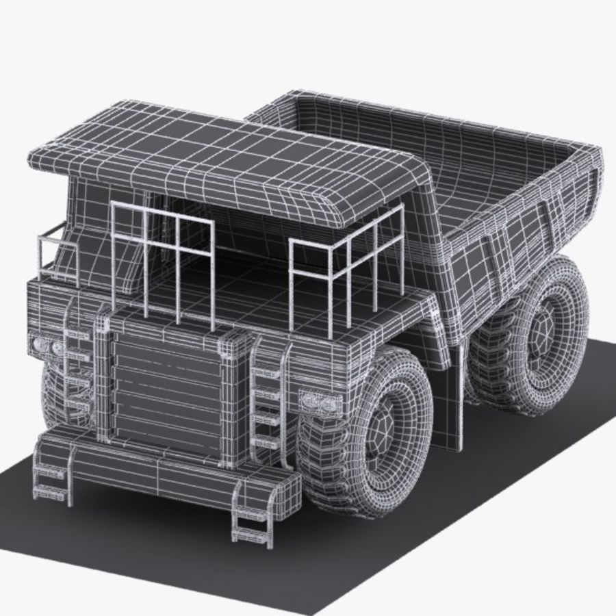 Cartoon Haul Truck royalty-free 3d model - Preview no. 8