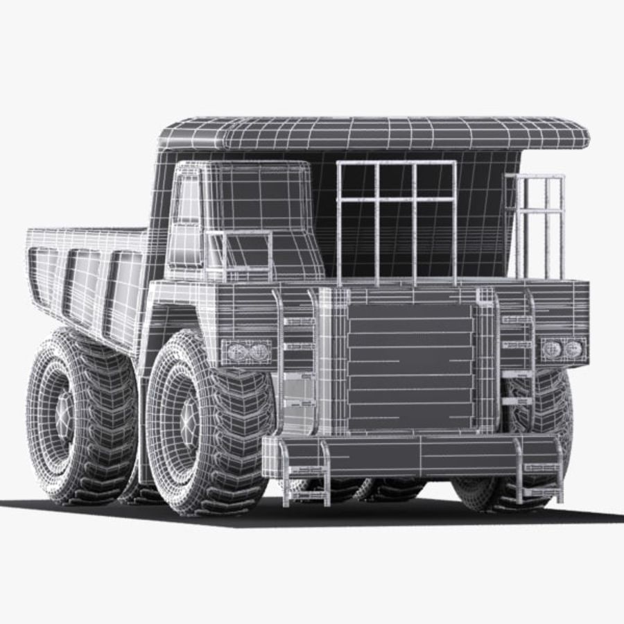 Cartoon Haul Truck royalty-free 3d model - Preview no. 11